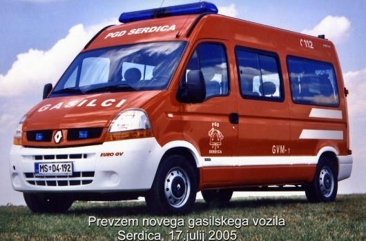 Prevzem novega gasilskega vozila GVM-1 PGD Serdica - julij 2005