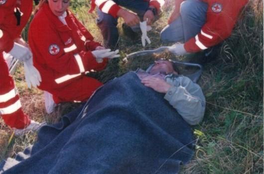 Prikaz reševanja gasilcev iz Avstrije