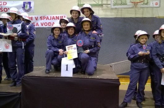 SSV 2014/2015  3 tekma 1.mesto članice PGD Pertoča