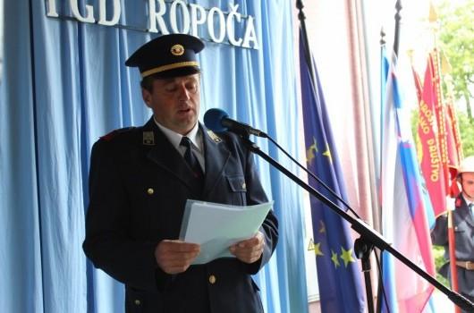 Predsednik PGD Ropoča Jože Čerpnjak