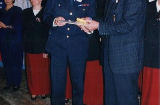 Matjaž Klarič, poveljnik GZS in Rudi Cipot, direktor zavarovalnice Triglav OE M. Sobota