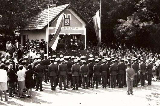 Prevzem gasilskega doma 1968