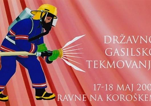 Ekipa članic A PGD Serdica na državnem tekmovanju v  Ravnah na Koroškem - maj 2008