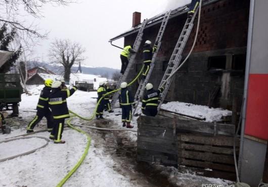 Požar gospodarskega poslopja G.Slaveči
